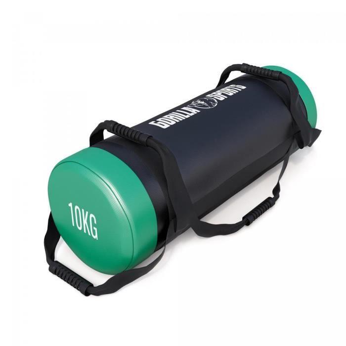 Fitness bag noir-rouge - Sac lesté 10kg