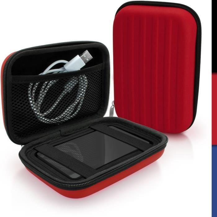 igadgitz Rouge EVA Étui Housse Rigide pour Toshiba Stor.E Aiv TV Kit, Canvio Plus, Canvio Basics, Canvio Aeromobile, Canvio Aeroc...