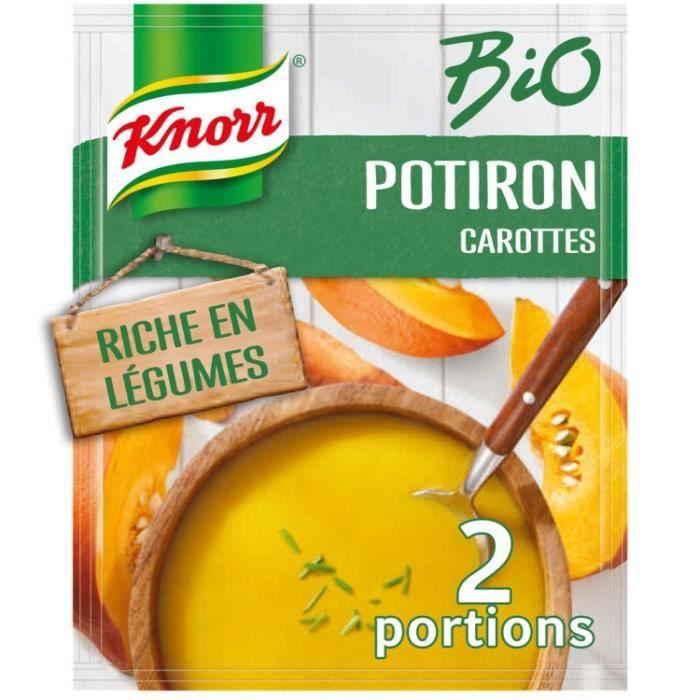 Soupe bio potiron carotte 51g Knorr