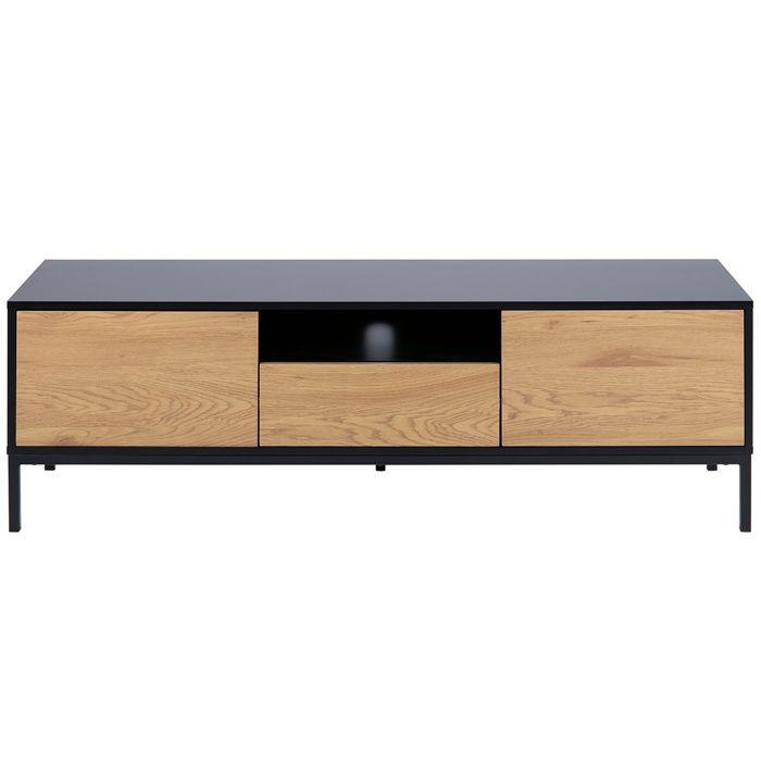Miliboo - Meuble TV industriel bois et métal L140 cm TRESCA