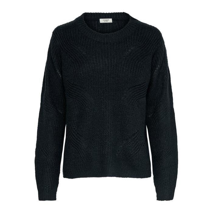 JDY Chandail tricoté pour femme Tricoté Only Pull Chemise [XS, Navy]