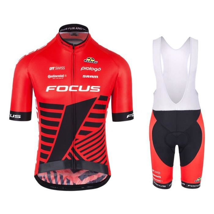 Homme Maillot Velo Mountain Bike Short Sleeve Bike Jesey with Biking Shorts Respirant Vêtements de Cyclisme
