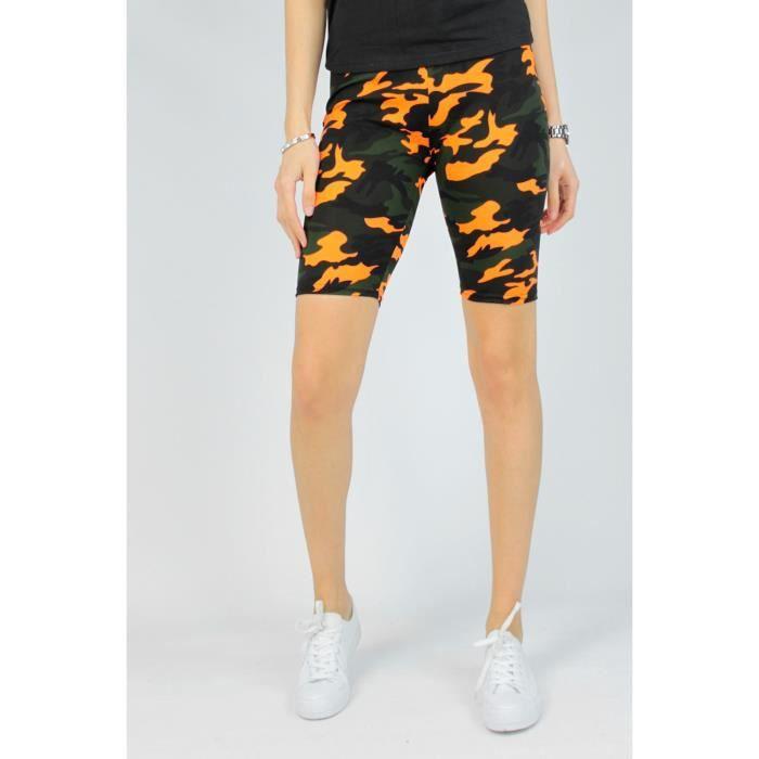 Short de fitness Femme Orange