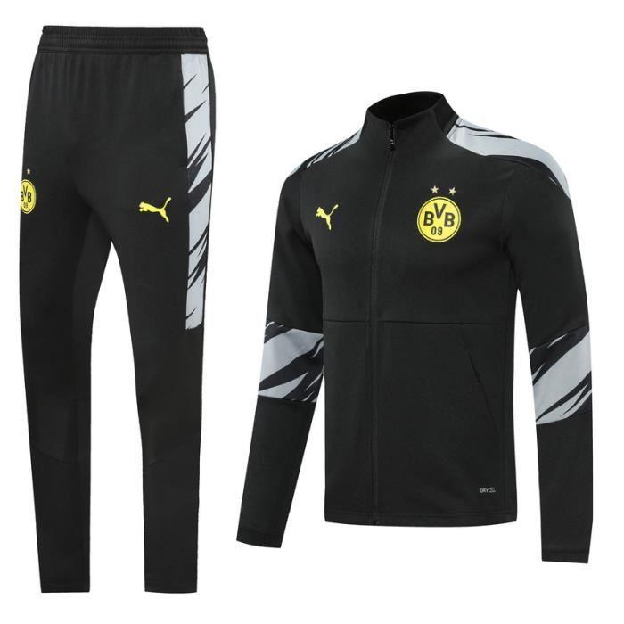 Ensemble Survêtement BVB Dortmund - Maillot de Foot Enfants Homme 2020-21 Ensemble Survêtement Jogging Vêtements de Football