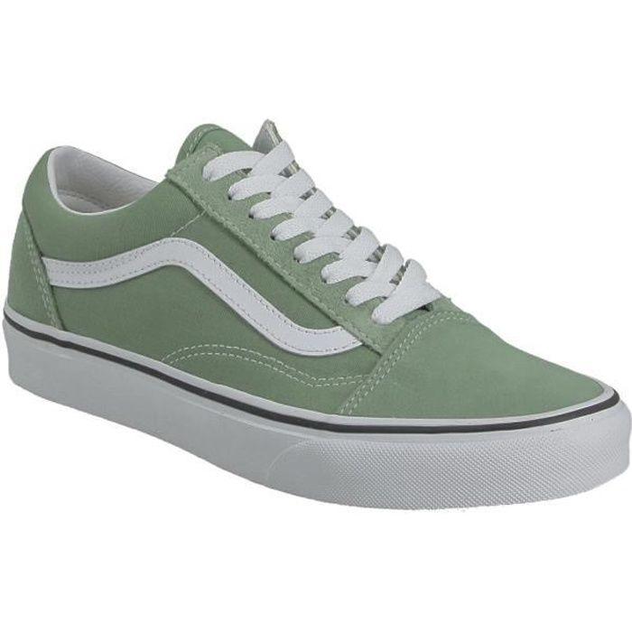 Basket Vans Old Skool vert clair.-45
