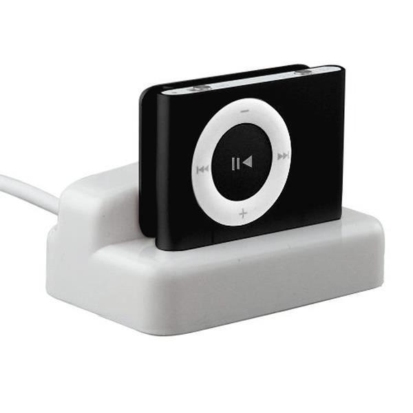 TRIXES Station d'accueil chargeur synchro - données USB pour Apple iPod Shuffle 2G, 3G - blanc