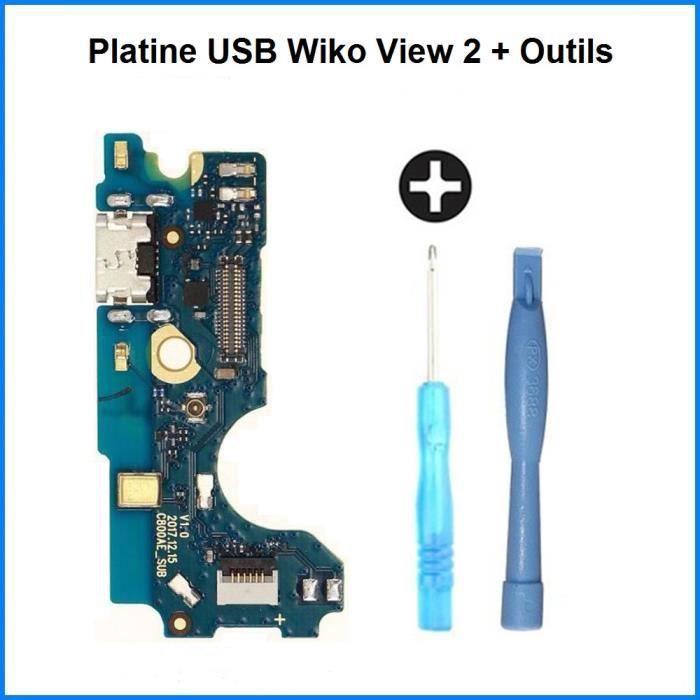Connecteur de Charge USB Wiko View 2 - 100% ORIGINAL + Outils