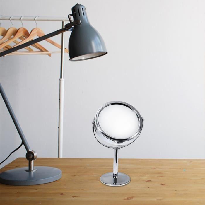 1 pc miroir bureau Double face créatif Rotation ronde pansement clair cosmétique maquillage HOUSSE - ETUI - CHAUSSETTE