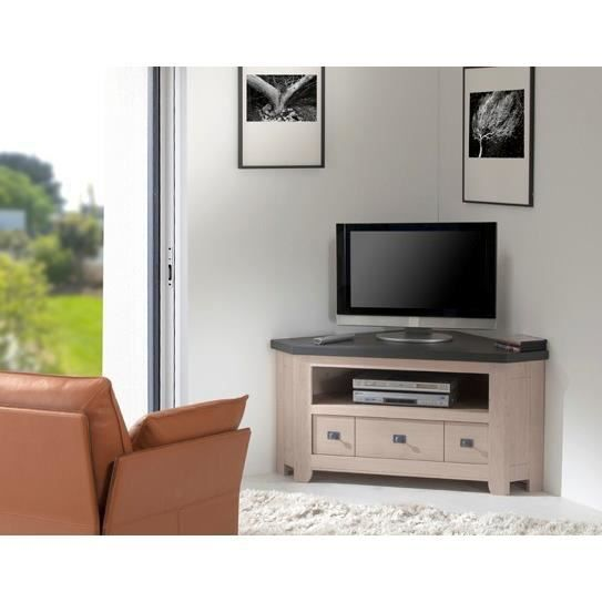 meuble tele d 39 angle houston achat vente meuble tv meuble tele d 39 angle houston soldes d. Black Bedroom Furniture Sets. Home Design Ideas