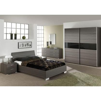 Chambre coucher compl te lennart 140x200cm achat for Chambre a coucher adultes complete