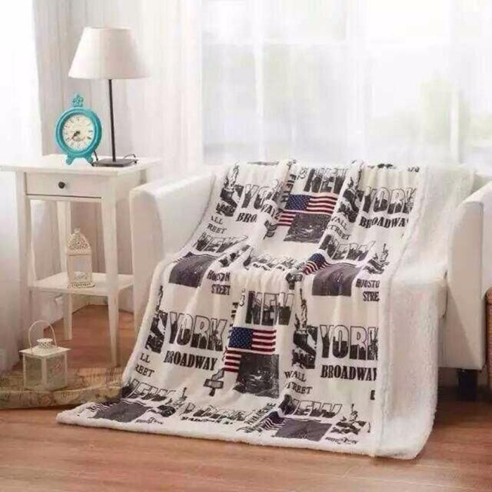 couverture polaire pour canap lit parure de draps polaire 130cm 160cm new. Black Bedroom Furniture Sets. Home Design Ideas