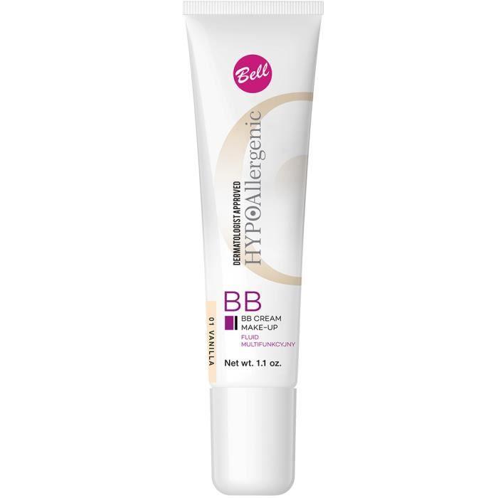 CORRECTEUR TEINT BB Crème Peau Sensible Hypoallergénique Beige Clai