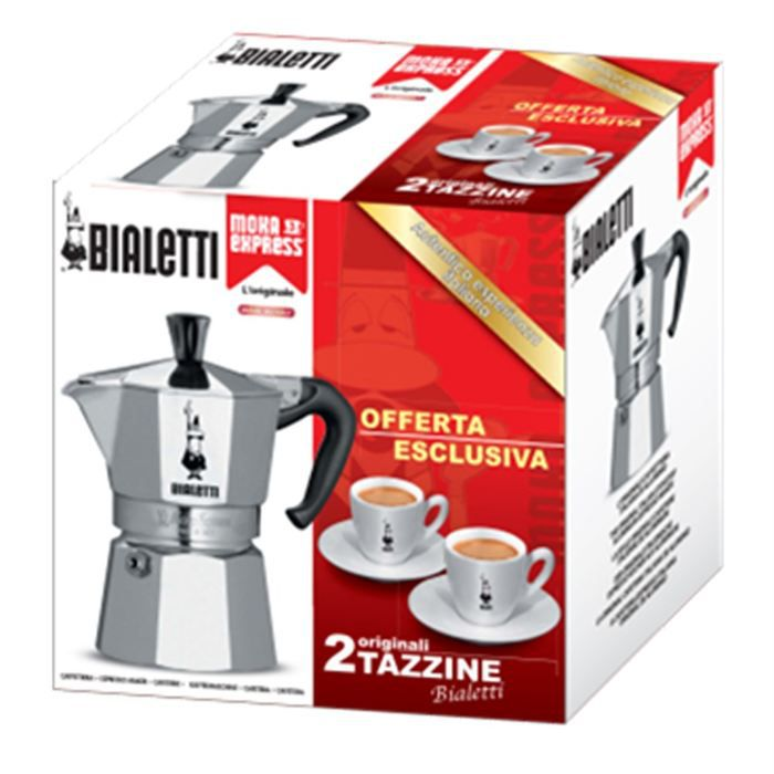 Bialetti set caf moka 2 tasses 2 sous tasses achat for 2 sous de table