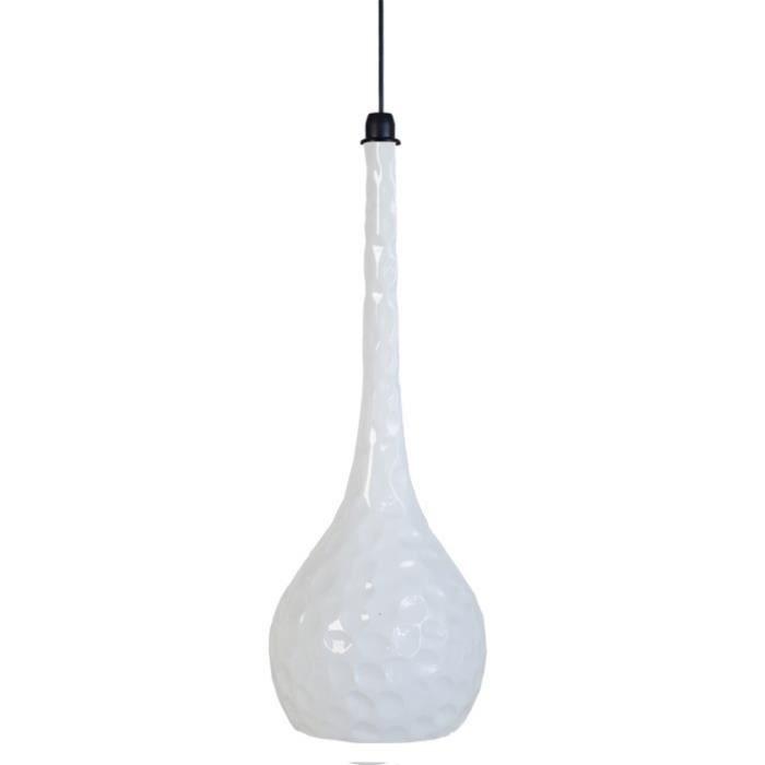 LUSTRE ET SUSPENSION GOLFE Suspension céramique 21x21x90 cm Blanc