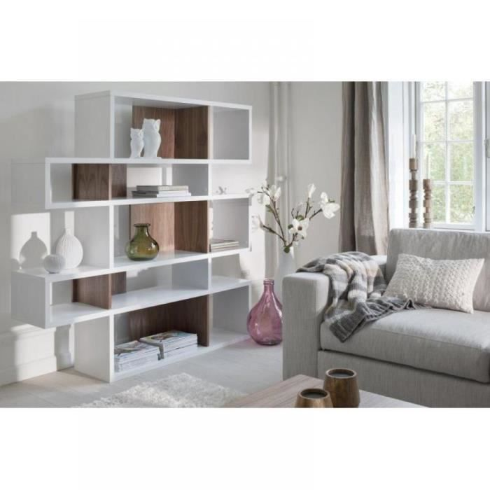city 5 bibliotheque design blanc compartiments noy achat. Black Bedroom Furniture Sets. Home Design Ideas