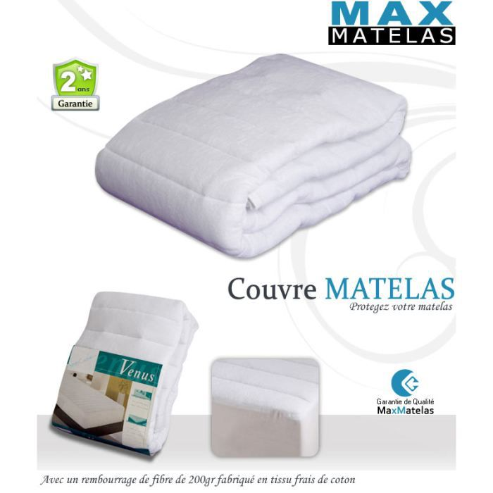 couvre matelas 160x200 achat vente prot ge matelas. Black Bedroom Furniture Sets. Home Design Ideas