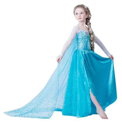 superbe robe elsa reine des neiges 2 a 14 ans bleu achat vente d guisement panoplie. Black Bedroom Furniture Sets. Home Design Ideas