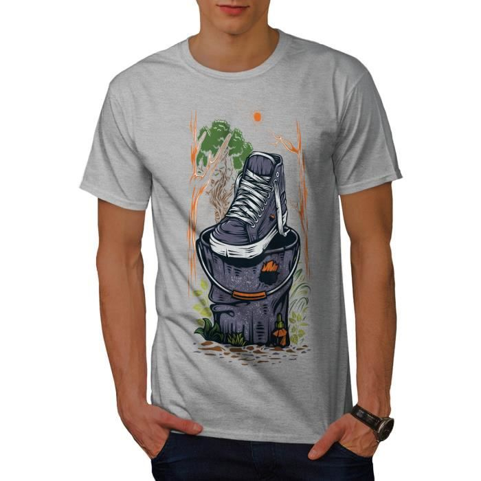 T-SHIRT Forêt la pollution Men  T-shirt | Wellcoda
