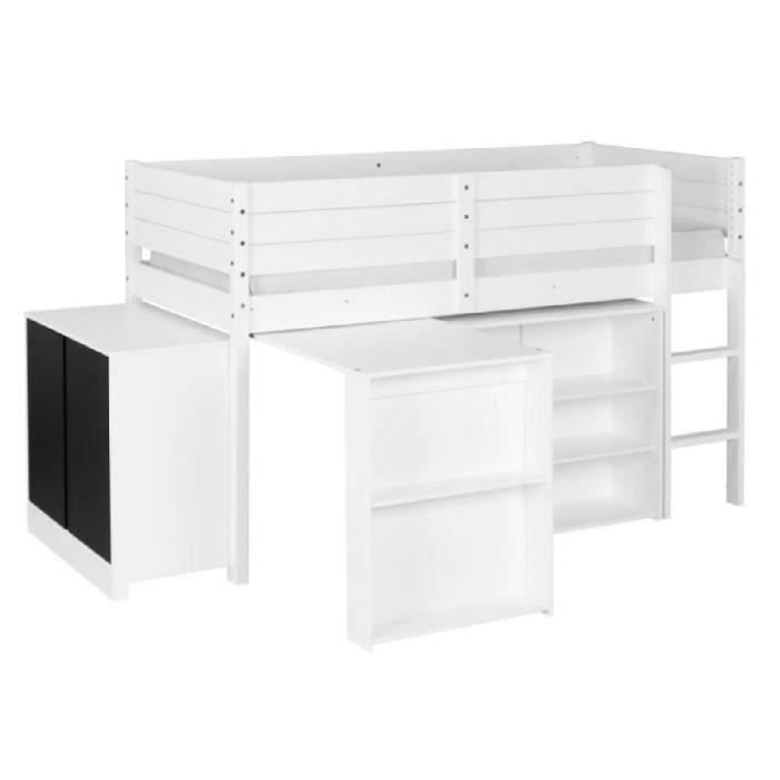lit mi hauteur avec bureau lit mi hauteur mixte combin avec bureau snoopy cbc meubles acheter. Black Bedroom Furniture Sets. Home Design Ideas