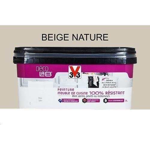 Peinture V33 Deco Lab Meuble De Cuisine 100 Resistant 2l Beige