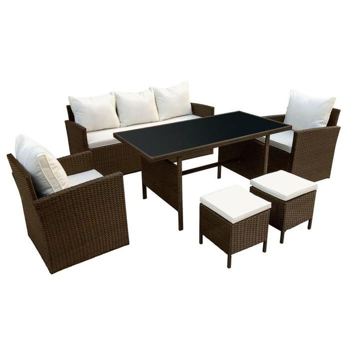 Salon jardin resine 7 places