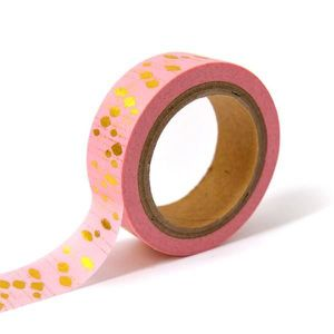TOGA Masking tape - rose pampilles or - 10m