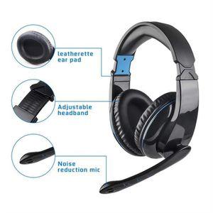 CASQUE AVEC MICROPHONE L5 filaire ergonomique Design Jeux vidéo Earphone