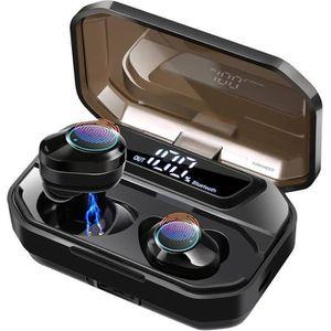 CASQUE - ÉCOUTEURS Écouteur Bluetooth 5.0 sans Fil 3500mA Imperméable