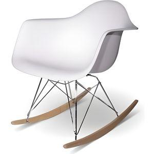 CHAISE Chaise Design Rar Blanche à Bascule