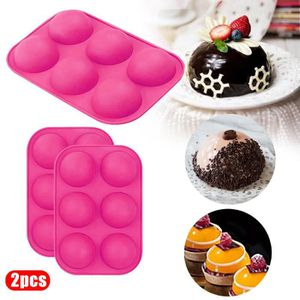 Silicone Rond Demi-Boule Chocolat Cupcake Gâteau Muffin Cuisson Moule Poêle
