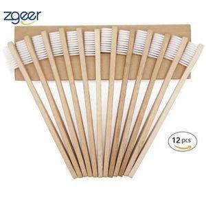 BROSSE A DENTS Pack de 12 brosses à dents en bambou biodégradable