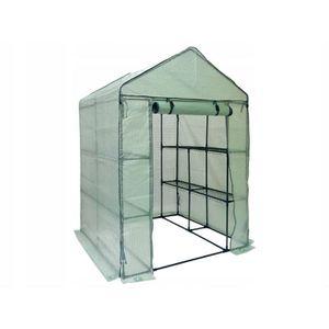 SERRE DE JARDINAGE FLORAX   Serre de jardin souple 8 étagères 200x140