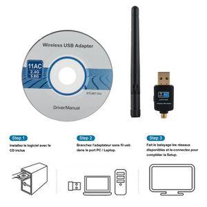 CLE WIFI - 3G DEEPOW Dongle WiFi 600Mbps, Clé WiFi Adaptateur US