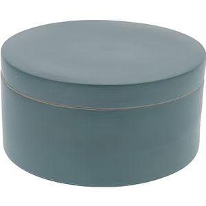 BOITE DE RANGEMENT Boîte ronde Julie bleue