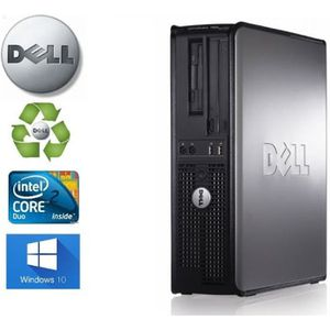 ORDI BUREAU RECONDITIONNÉ Unité Centrale  Dell Optiplex  780 SFF Core2Duo 2,