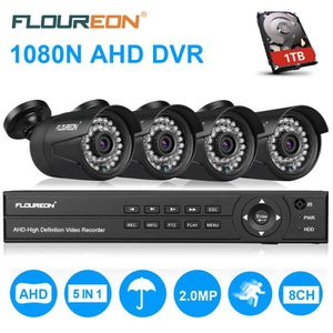 CAMÉRA DE SURVEILLANCE 1TB Disque dur + Vidéo Surveillance 8CH 1080N HDMI