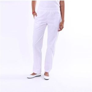 PANTALON PRO Pantalon de Cuisine Blanc Ceinture élastique