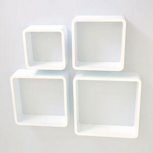 CASIER POUR MEUBLE Étagère cube murale de 4 piéces Blanc
