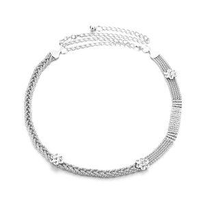 CHAINE DE TAILLE - CHAINE D'EPAULE 122 cm réglable argent métal taille ceinture chaîn