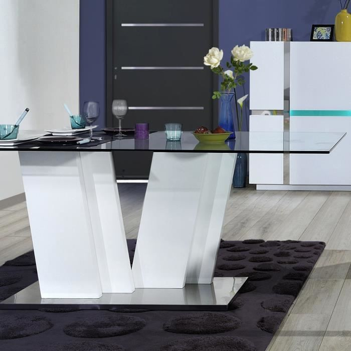 arrow ensemble table manger 4 chaises de salle manger avec clairage led blanc achat. Black Bedroom Furniture Sets. Home Design Ideas