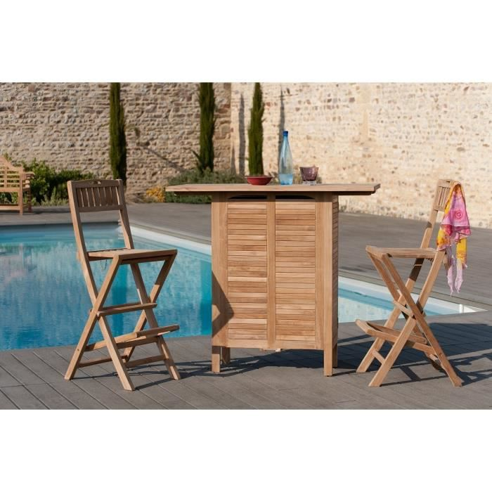 bar de jardin en bois teck massif achat vente desserte. Black Bedroom Furniture Sets. Home Design Ideas