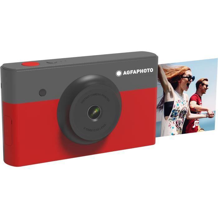 AGFA AMS23RD Mini Appareil photo imprimante 2en1 - 2*3- - Rouge