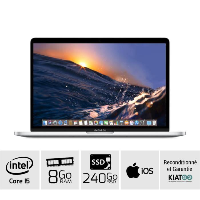 MACBOOK PRO 13 pouces Gris core i5 8 go ram 240 go SSD disque...