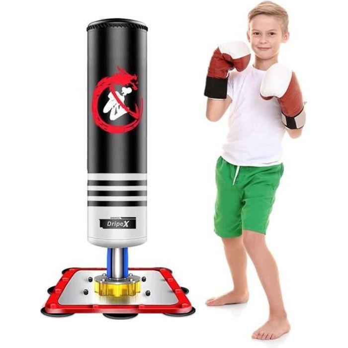Sac de frappe sur pied boxing Punching Ball enfant 120cm - Noir