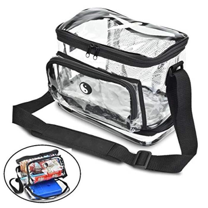 Coffret Multi-Jeux N7OMZ sac à lunch transparent robuste avec compartiment séparé pour emballage froid. gardez vos aliments au frais