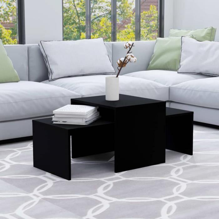 Luxueux- Lot de 2 Tables Basse Style Scandinave Tables de Salon - Ensemble de Table Basse de Salon contemporain scandinave - ��8949