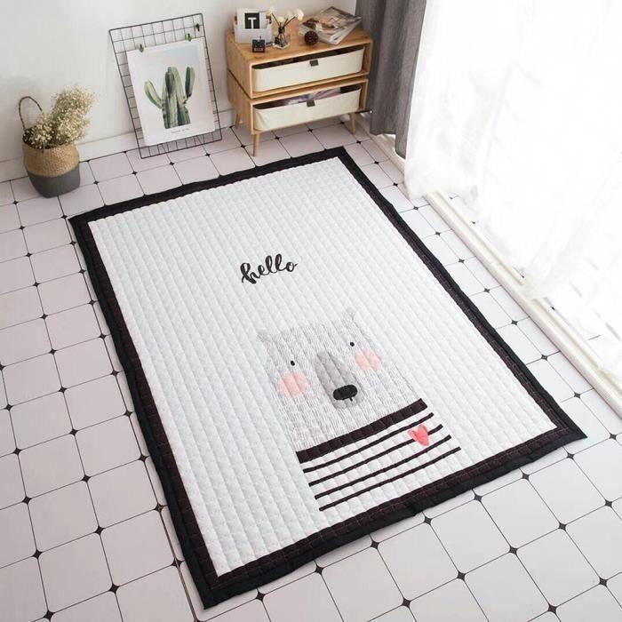 Coton tapis de rampe de jeu bébé enfant déco salon chambre 145 x195 x15mm TYPE G Ve08627