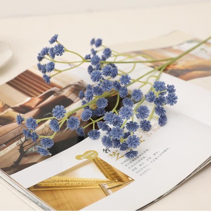 Décoration florale,Mini têtes de fleurs artificielles gypsophile,135,62cm,fausses plantes en Silicone,pour décoration - Type Purple