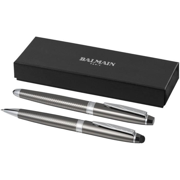Parure de stylos luxe Balmain, graphite