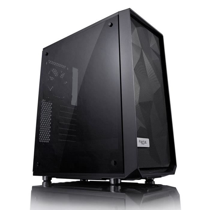 FRACTAL DESIGN Boitier PC Meshify C Blackout Tempered Glass